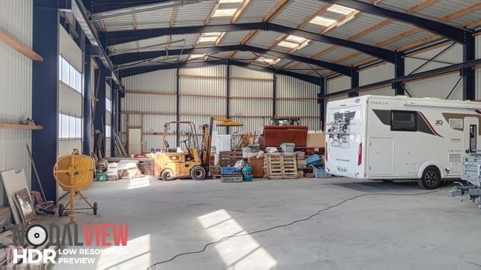 intérieur du hangar à vendre à Erdeven réf 0133