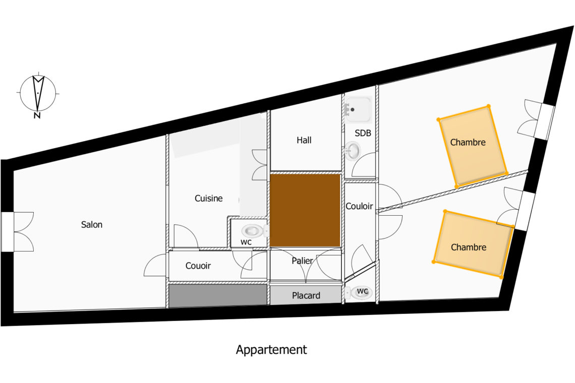 438 - LE PALAIS -plans appartement